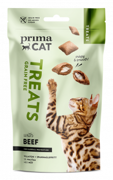 PrimaCat Treats Crunchy treat with Beef for Hairball prevention