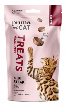 PrimaCat Treats Softy mini steak beef -kissanherkku