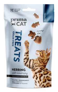 PrimaCat Crunchy Treats with Herring & Rosemary for healthy gums & fresh breath