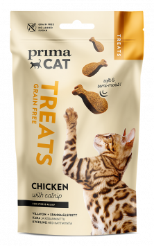 PrimaCat Softy Chicken with Catnip for Stress relief