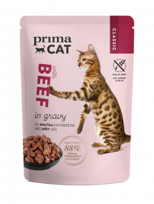 PrimaCat Classic Beef in gravy cat food