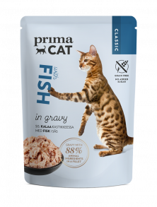PrimaCat Classic Fish in gravy -cat food