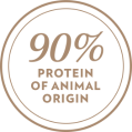 90% protein of animal origin