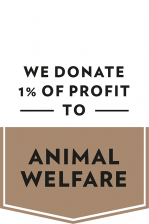 We donate 1% of profit to animal welfare